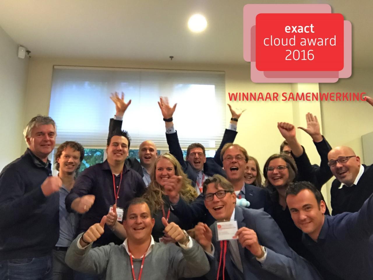 De Coop & Haegen Winnaar Samenwerking Exact Cloud Award 2016